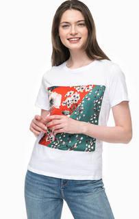 Хлопковая футболка с яркой нашивкой Only