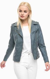 Серая куртка- косуха на молнии Vero Moda