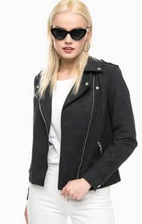 Черая куртка- косуха на молнии Vero Moda