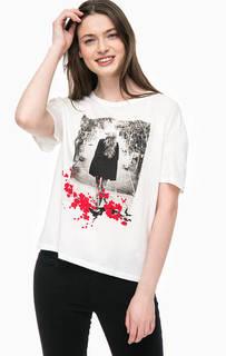 Хлопковая футболка с принтом Only