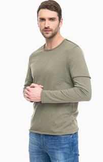 Плотная хлопковая футболка с длинными рукавами Mavi