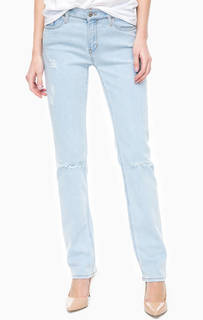 Рваные джинсы зауженного кроя Calvin Klein Jeans