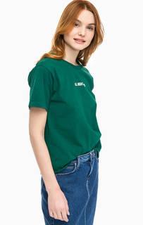 Хлопковая футболка с необработанным краем Lee