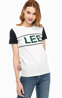 Хлопковая футболка с логотипом бренда Lee