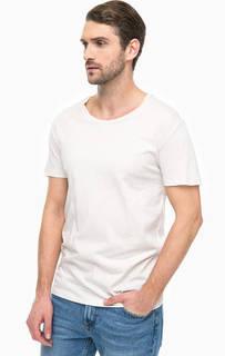 Однотонная хлопковая футболка Lee