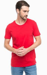 Красная хлопковая футболка Lee