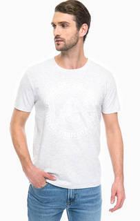 Серая хлопковая футболка с принтом Lee