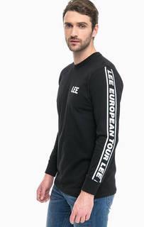 Черная футболка с логотипом бренда Lee