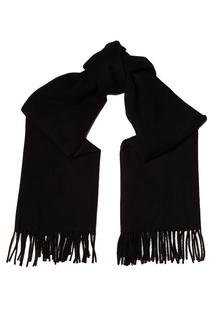Черный шарф с бахромой Acne Studios