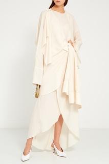 Асимметричное платье с жакетом Awake