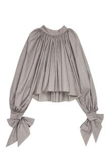 Серая блузка с драпировками Awake