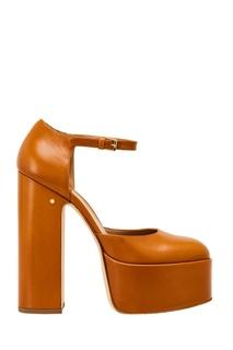 Коричневые туфли из кожи Laurence Dacade