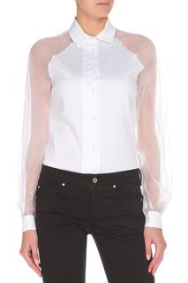 Полуприлегающая блуза с прозрачными элементами GF FERRE
