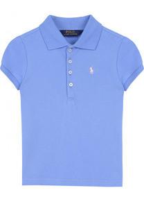 Хлопковое поло с логотипом бренда Polo Ralph Lauren