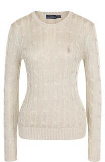 Приталенный пуловер фактурной вязки Polo Ralph Lauren