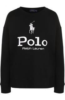 Свитшот свободного кроя с логотипом бренда Polo Ralph Lauren