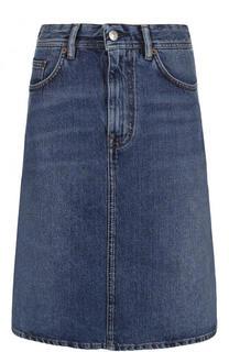 Джинсовая мини-юбка с потертостями Acne Studios