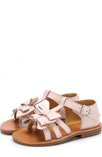 Кожаные сандалии с бантами Gallucci