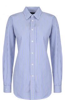 Хлопковая блуза в полоску со шнуровкой Polo Ralph Lauren