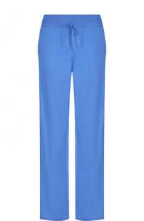 Однотонные брюки из смеси кашемира и шелка Cruciani