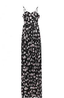 Шелковое платье-макси с принтом и завышенной талией Balenciaga