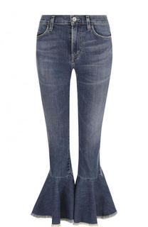 Укороченные расклешенные джинсы с потертостями Citizens Of Humanity