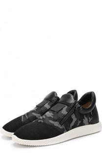 Текстильные кроссовки Runner без шнуровки Giuseppe Zanotti Design