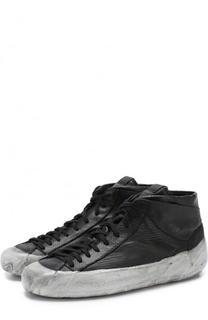 Высокие кожаные кеды на шнуровке OXS rubber soul