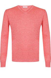 Пуловер из смеси льна и шерсти с шелком Cruciani