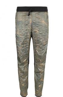Зауженные брюки из смеси хлопка и вискозы Dries Van Noten