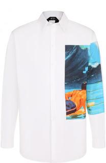 Хлопковая рубашка с отделкой No. 21