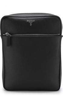 Кожаная сумка планшет с двумя отделениями на молнии Serapian