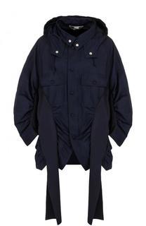 Однотонная куртка свободного кроя с капюшоном Stella McCartney