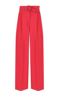 Укороченные брюки с защипами и широким поясом Emporio Armani