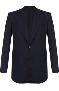 Однобортный пиджак из смеси шерсти и льна Tom Ford
