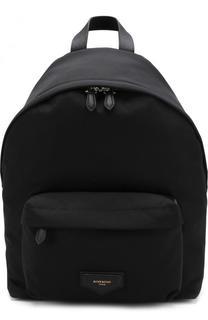 Текстильный рюкзак с внешним карманом на молнии Givenchy