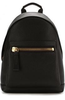 Кожаный рюкзак с внешним карманом на молнии Tom Ford