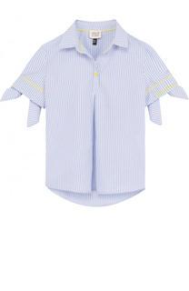Блуза из хлопка и полиэстера с бантами Armani Junior