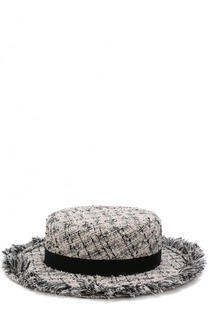 Шляпа из твида с лентой Eugenia Kim