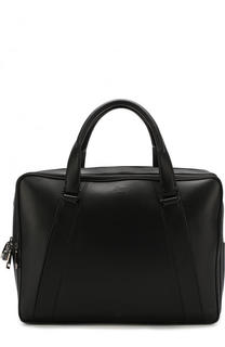 Кожаная сумка для ноутбука с плечевым ремнем Brioni