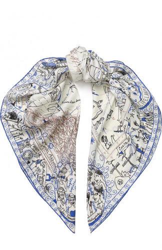 Шелковый платок с принтом Faliero Sarti