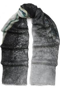 Палантин из смеси вискозы и шелка с принтом Faliero Sarti