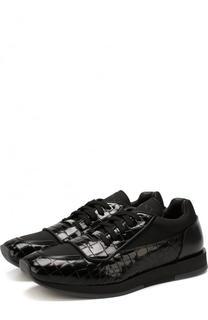 Комбинированные кроссовки Jett на шнуровке Jimmy Choo