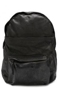 Кожаный рюкзак с внешними карманами на молнии OXS rubber soul