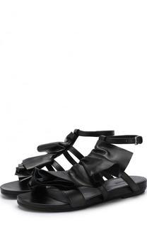 Кожаные сандалии с декоративной отделкой Vic Matie