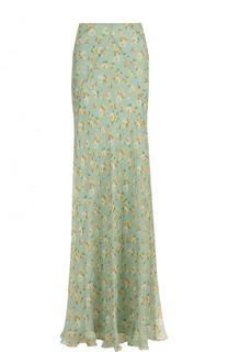 Шелковая юбка-макси с цветочным принтом Ralph Lauren
