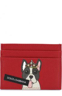 Кожаный футляр для кредитных карт с принтом Dolce & Gabbana
