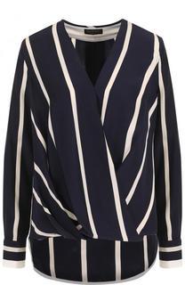 Шелковая блуза в полоску с V-образным вырезом Rag&Bone Rag&Bone