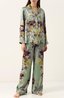 Шелковая пижама с контрастным принтом Meng