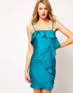 Платье-бандо с оборкой Coast - Синий
